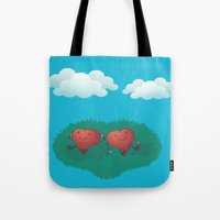 HEARTS IN THE CLOUDS Tote Bag