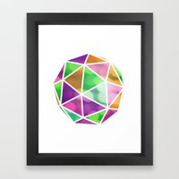 vivid dodecahedron Framed Art Print