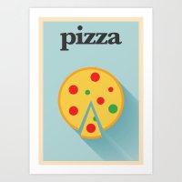 Minimal Pizza Poster Art Print