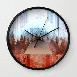 Wall Clock - abstract floral forest 2 - Bekim ART