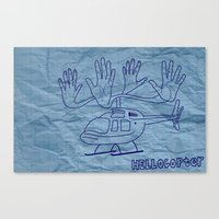 HELLOcopter Canvas Print