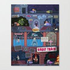 Jump Scares Ghost Train... Canvas Print
