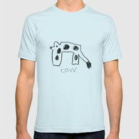 My Cow Drawing Mens Fitted Tee Light Blue SMALL