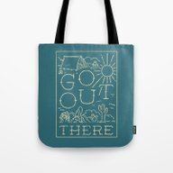 Tote Bag featuring Go Out There by WEAREYAWN