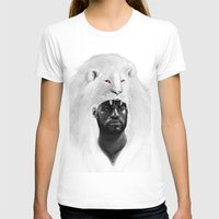 THE LION KING Womens Fitted Tee White SMALL