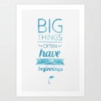 Big Things Art Print