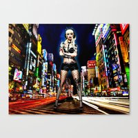 Neon Black Canvas Print