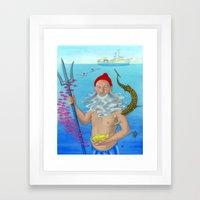 Ruler of the Deep Framed Art Print