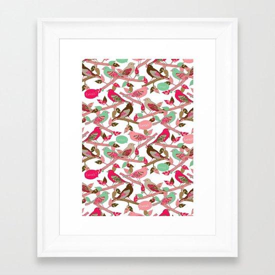 Tweet! Framed Art Print