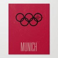 Minimal Poster - Munich Canvas Print