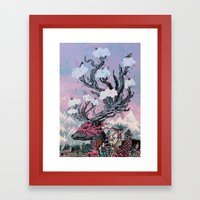 Journeying Spirit (deer)… Framed Art Print