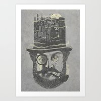 Old man hatten Art Print