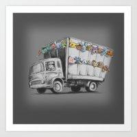 Pokesy Truck Art Print