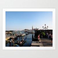 Gondolier - Venice Art Print