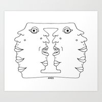 Totem Head Art Print