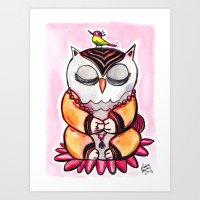 Zen Owl  Art Print