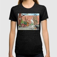 Rabbit's Garden Womens Fitted Tee Tri-Black SMALL