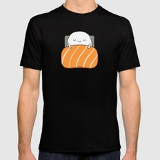 sleepy sushi Mens Fitted Tee Black SMALL