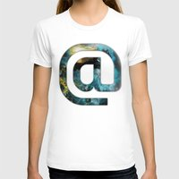 At Sign {@} Series - Sil… Womens Fitted Tee White SMALL