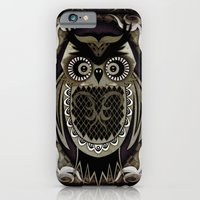 iPhone & iPod Case featuring Owl by UvinArt