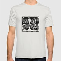 Checkmate Mens Fitted Tee Silver SMALL