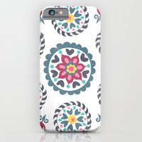 Suzani inspired floral blue 3 iPhone 6 Slim Case