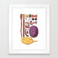 Dragon Ball Ztuff Framed Art Print