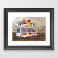 Carnival Food Van Framed Art Print