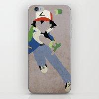 Ash Ketchum iPhone & iPod Skin