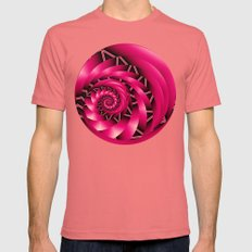 Stunning Spiral In Hot P… Mens Fitted Tee Pomegranate SMALL