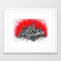 1991 - Imaginary French Village (High Res) Framed Art Print