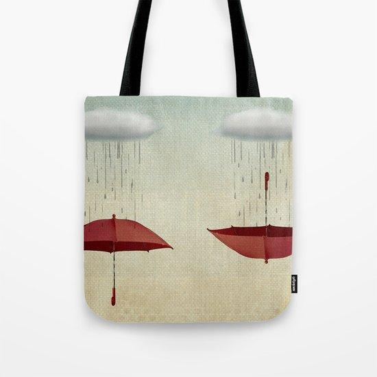embracing the rain Tote Bag
