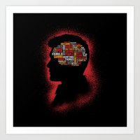 Dean's Phrenology Art Print