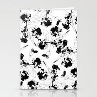 Hydranga pattern  - black and white Stationery Cards