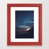 superior sunsets. Framed Art Print