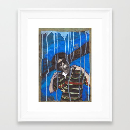 DEAD RAPPERS SERIES - Mac Dre Framed Art Print