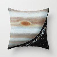 Joyride Over Jupiter Throw Pillow