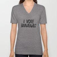 I Vote Bananas Unisex V-Neck