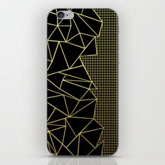 Ab Outline Grid Black and Gold iPhone & iPod Skin