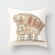 Caravans Throw Pillow