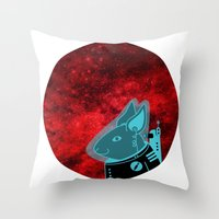 Space Rabbit Throw Pillow