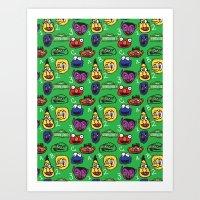Sesame Street Pattern Art Print