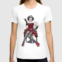 After Hours Womens Fitted Tee White SMALL