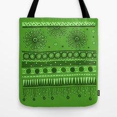 Yzor pattern 007 green Tote Bag