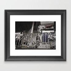 Girls playing in the balcony - Panamá  Framed Art Print