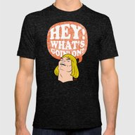 Hey-Man Mens Fitted Tee Tri-Black SMALL