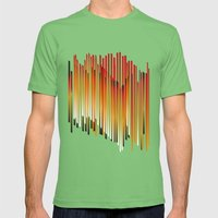 fire Mens Fitted Tee Grass SMALL