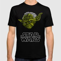 Yoda Mens Fitted Tee Black SMALL