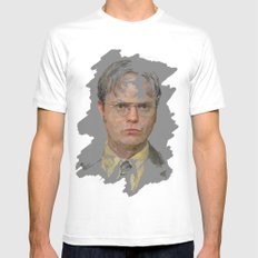 Dwight Schrute, The Office White Mens Fitted Tee SMALL
