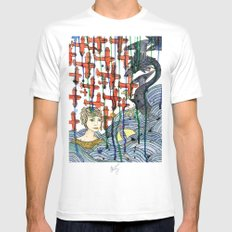 Sea Monster Mens Fitted Tee SMALL White